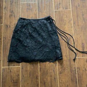 Banana republic black embellished skirt